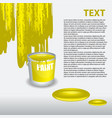 yellow paint dripping on the wall editable vector image vector image