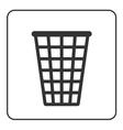 Recycle icon Trash bin sign vector image