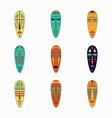 set of colored national ethnick african masks vector image