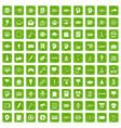 100 creative marketing icons set grunge green vector image vector image