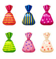 a set of sweet candies in a package of different vector image vector image
