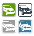 Auto square icons vector image
