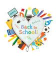 back to school poster education background back vector image vector image