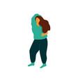 beautiful plump young woman dancing wearing casual vector image vector image