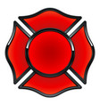 blank fire department logo base red and black vector image
