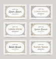 business card with flourishes calligraphic vector image vector image