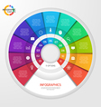circle infographic template 11 options vector image vector image