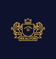 coat arms realtor vector image vector image