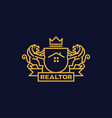 coat of arms realtor vector image vector image