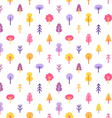 colorful trees in park seamless pattern vector image vector image