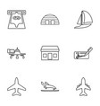 commercial icons vector image vector image