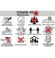 covid19-19 infographic prevention coronavirus aler vector image