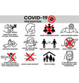covid19-19 infographic prevention coronavirus vector image vector image