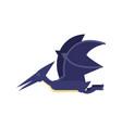 cute cartoon blue pterosaurs dinosaur prehistoric vector image vector image