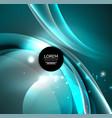 digital glowing waves and circles vector image vector image