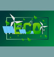 eco typographic poster sustainable power vector image