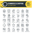 ecommerce outline icons vector image vector image