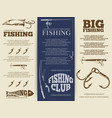 fishing brochure or banners vector image vector image