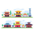 flat chinatown or ancient chinese city street vector image