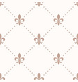 fleur de lis sign and dot seamless pattern vector image vector image