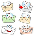 funny mail cartoon vector image vector image