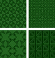 Green seamless triangle pattern background set vector image vector image