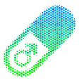 halftone blue-green male power pill icon vector image vector image