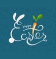 hand sketched happy easter text drawn vector image vector image
