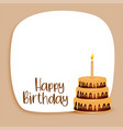 happy birthday card design with text space and vector image