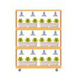 hydroponics and aeroponics gardening system eco vector image