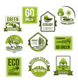 icons set for nature ecology environment vector image vector image