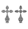 jewelry set of antique christian crosses decorated vector image