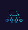 logistics delivery service linear icon vector image vector image