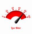 love meter vector image vector image