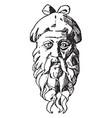 mask head is a roman design vintage engraving vector image vector image