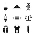 medicament icons set simple style vector image vector image