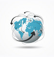 modern globe connections network design vector image vector image