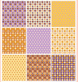noney and lilac pattern set vector image vector image