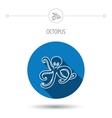 Octopus icon Ocean devilfish sign vector image vector image