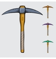 pickaxe cartoon isolated vector image