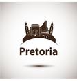 Pretoria South Africa city skyline silhouette vector image vector image