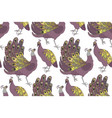 seamless pattern with peacocks vector image