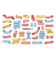 set of colorful ribbons of different shapes vector image vector image