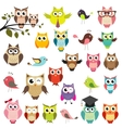 Set of owls vector | Price: 3 Credits (USD $3)
