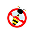 stop sign watch out for bees or wasp red sign vector image
