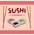 Sushi background design vector image vector image