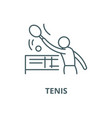 tenis line icon linear concept outline vector image vector image