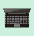 top view of laptop computer vector image vector image