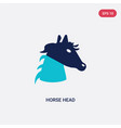 two color horse head icon from culture concept vector image