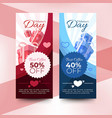 valentines day sale banners vector image vector image